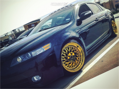2007 Acura TL - 18x9.5 30mm - Aodhan Ds03 - Coilovers - 215/40R18