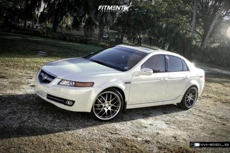 2008 Acura TL - 20x8 35mm - HD Msr - Stock Suspension - 225/35R20