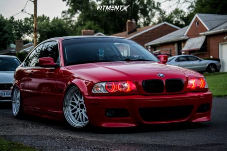 2000 BMW 323Ci - 18x9 34mm - JNC JNC005 - Air Suspension - 215/35R18