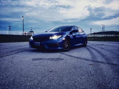 2016 Honda Civic - 16x6.5 45mm - RTX Envy - Lowering Springs - 215/55R16
