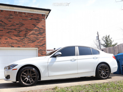 2014 BMW 328xi - 18x8.5 30mm - ESR Sr08 - Stock Suspension - 235/45R18