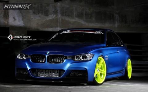 2013 BMW 335i - 20x9 35mm - K3 Projekt F2 - Lowered Adj Coil Overs - 245/30R20