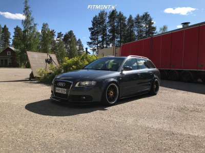 2007 Audi A4 - 18x8 40mm - BBS Rsii - Coilovers - 225/40R18