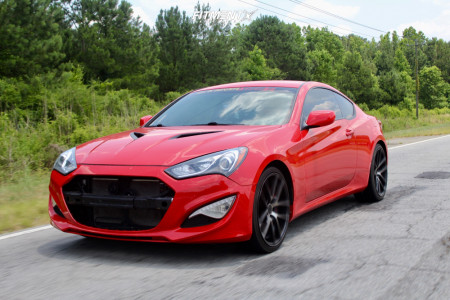 2013 Hyundai Genesis Coupe - 20x9 25mm - Niche Vosso - Stock Suspension - 225/35R20