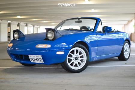 1993 Mazda MX-5 Miata - 15x6.5 25mm - Drag Dr31 - Coilovers - 195/50R15