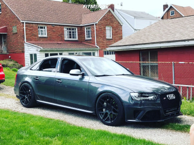 2015 Audi S4 - 19x9.5 35mm - Aodhan Ls002 - Coilovers - 255/35R19