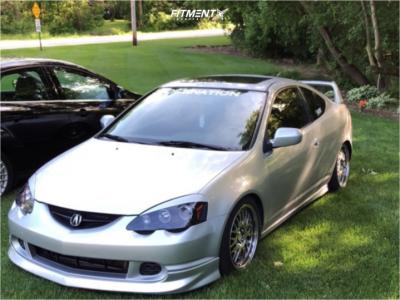 2003 Acura RSX - 17x8 35mm - XXR 531 - Coilovers - 245/50R17
