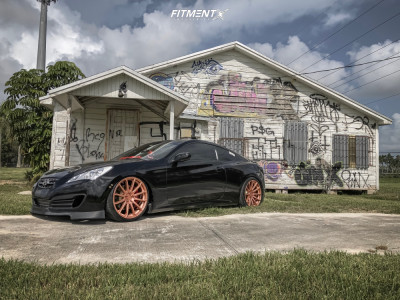2011 Hyundai Genesis Coupe - 20x9 35mm - Concavo Wheels Cw-12 - Coilovers - 225/35R20