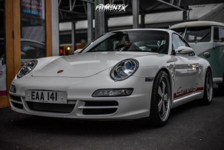2007 Porsche 911 - 19x8.5 38mm - Rotiform FUC - Lowering Springs - 235/35R19