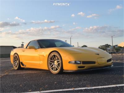2002 Chevrolet Corvette - 18x9.5 50mm - Forgestar F14 - Stock Suspension - 275/35R18