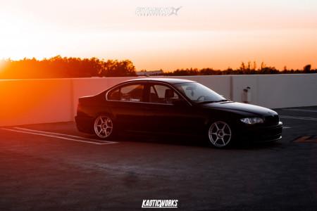 2003 BMW 3 Series - 17x8.5 40mm - Kosei K1 - Coilovers - 195/40R17