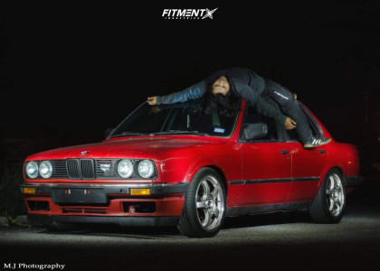 1987 BMW 325e - 17x7 40mm - Gram Lights 57Pro - Coilovers - 205/40R17