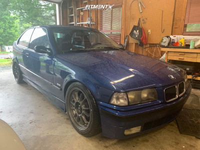 1998 BMW 318i - 17x8 35mm - Konig Hypergram - Lowering Springs - 225/45R17