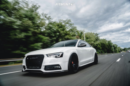 2013 Audi S5 - 20x10.5 20mm - Forgestar F14 - Coilovers - 255/35R20