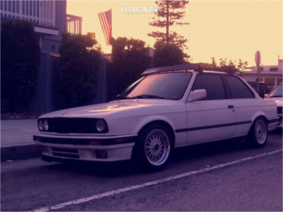 1988 BMW 325 - 15x7.5 25mm - Ronal LS - Coilovers - 205/50R15