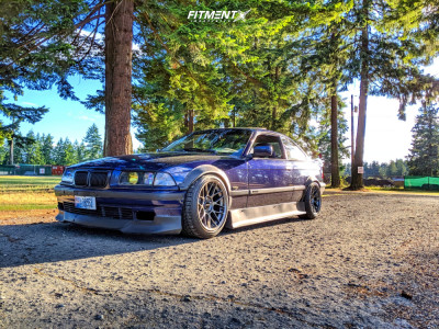 1997 BMW 328is - 17x9.5 30mm - Apex Arc-8 - Coilovers - 245/40R17