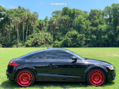 2011 Audi TT Quattro - 19x8.5 45mm - Rotiform Ccv - Stock Suspension - 255/35R19