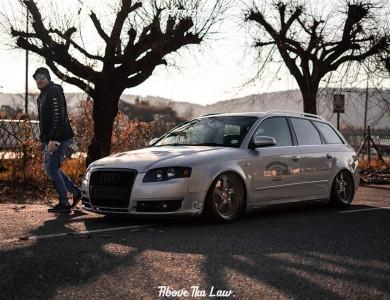 2005 Audi A4 - 19x8.5 35mm - Rotiform Tmb - Air Suspension - 215/35R19
