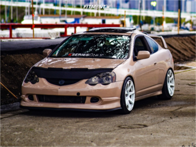2003 Acura RSX - 18x9 25mm - Cosmis Racing Mr7 - Coilovers - 215/40R18