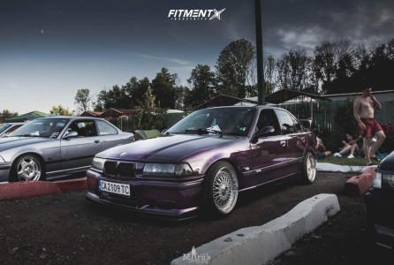 1996 BMW 328i - 17x8 35mm - Calibre Vintage - Coilovers - 205/40R17