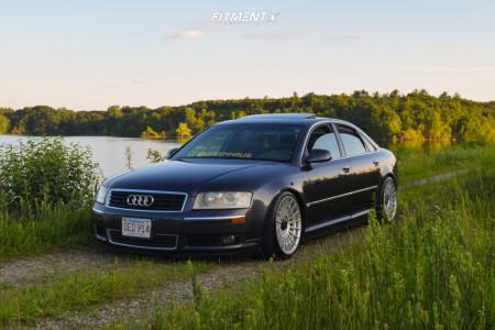 2005 Audi A8 Quattro - 19x10 22mm - Rotiform Las-r - Lowering Springs - 255/35R19