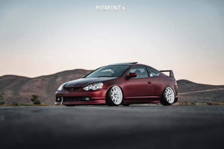 2002 Acura RSX - 18x9.5 12mm - Work Emotion D9r - Air Suspension - 215/35R18