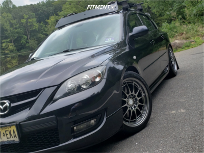 2009 Mazda MazdaSpeed3 - 18x7.5 42mm - Enkei NT03M - Coilovers - 215/45R18