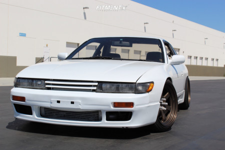 1989 Nissan 240SX - 18x9.5 0mm - Rays Engineering Te37 - Coilovers - 225/35R18