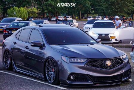 2019 Acura TLX - 20x10.5 48mm - VIP Modular Vrc13 - Air Suspension - 235/35R20