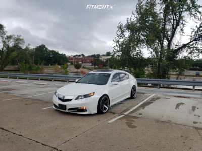 2012 Acura TL - 20x9.5 15mm - Klutch Slc3 - Coilovers - 235/35R20