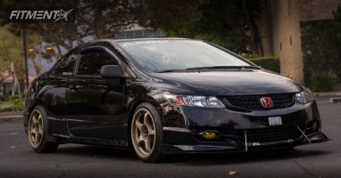 2010 Honda Civic - 17x9 17mm - A-TECH Final Speed - Lowered Adj Coil Overs - 205/45R17