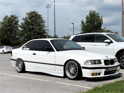 1993 BMW 325is - 17x8 35mm - Work VS X9 - Coilovers - 205/40R17
