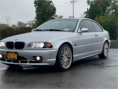 2001 BMW 330Ci - 18x8.5 35mm - TSW Hockenheim T - Stock Suspension - 235/40R18