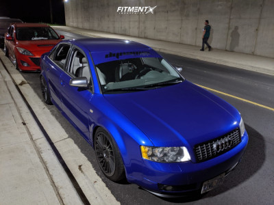 2002 Audi A4 Quattro - 18x8.5 45mm - Rotiform Ind-t - Coilovers - 225/40R18