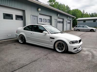 2001 BMW 330Ci - 18x9.5 15mm - OZ Racing Hamann PG1 - Coilovers - 225/40R18