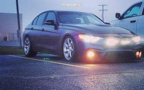 2014 BMW 328i - 18x8 35mm - Mach M7 - Coilovers - 235/40R18
