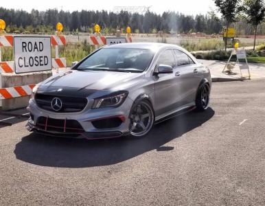 2014 Mercedes-Benz CLA45 AMG - 19x9.5 25mm - Advan Racing Gt - Stock Suspension - 235/35R19