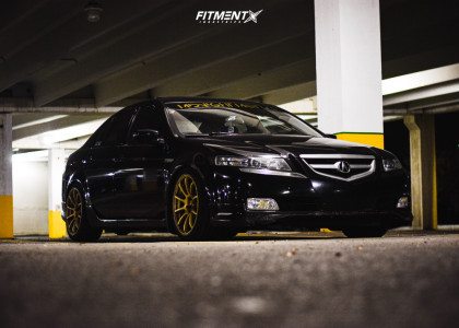 2005 Acura TL - 18x9 30mm - Rota G-force - Coilovers - 235/40R18