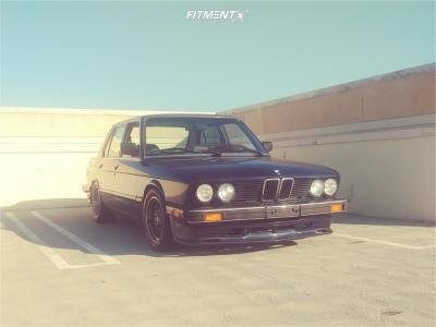 1987 BMW 528e - 16x8 22mm - BBS Rz - Lowering Springs - 225/50R16