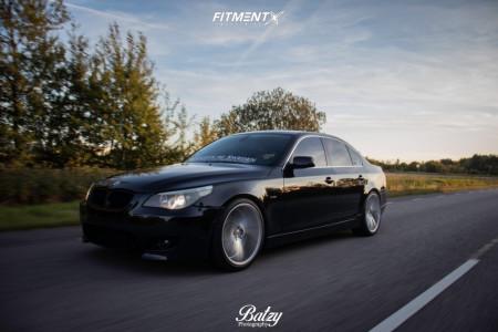 2004 BMW 525i - 20x9 38mm - Imaz Im5 - Coilovers - 255/35R20