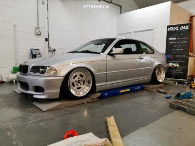2001 BMW 325Ci - 18x9 20mm - Carline CM2 - Air Suspension - 235/35R18