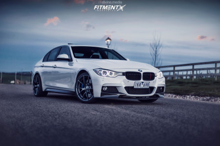 2012 BMW 328i - 19x9.5 29mm - BMW Style 763 - Stock Suspension - 235/35R19
