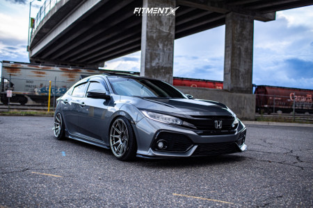 2018 Honda Civic - 18x9.75 30mm - XXR 527 - Coilovers - 225/35R18