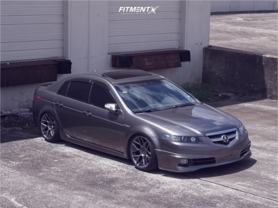 2007 Acura TL - 18x9 30mm - Aodhan Ls002 - Coilovers - 225/40R18
