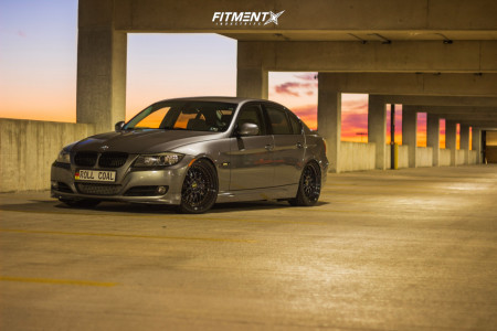 2011 BMW 335d - 19x8.5 30mm - ESR Sr01 - Lowering Springs - 235/35R19