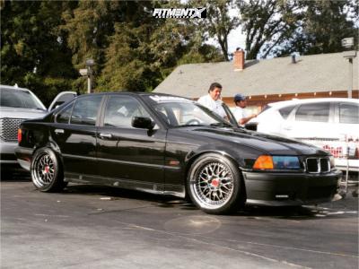 1995 BMW 325i - 18x9.5 22mm - ESR Sr01 - Coilovers - 245/35R18