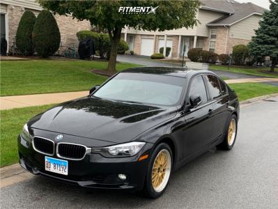 2015 BMW 328i xDrive - 18x8 35mm - JNC JNC005 - Stock Suspension - 275/50R18