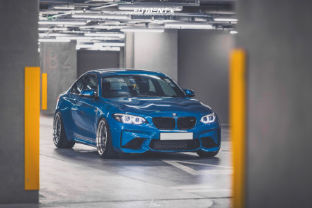 2018 BMW M2 - 19x10 15mm - Work Meister S1 3P - Coilovers - 245/35R19