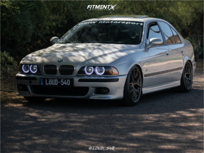 2000 BMW 540i - 19x8.5 35mm - Aodhan Ls007 - Coilovers - 225/40R19
