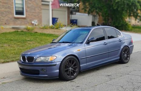 2002 BMW 330xi - 17x8 46mm - BMW Style 200 - Lowering Springs - 225/50R17